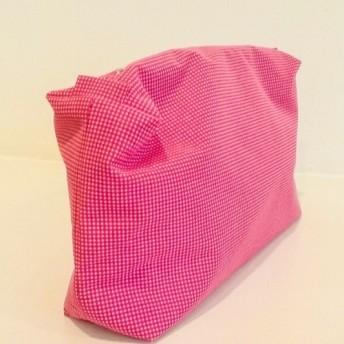 ピンク 耐水性メイクアップバッグ
