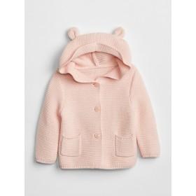 Gap くま耳フード ガーター編みセーター (ベビー)