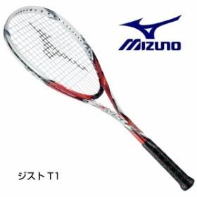 ミズノ ソフトテニスラケット ジストT1 63JTN52162 前衛 レッド×ホワイト  0U 1U ラケットを診断します