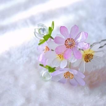 かんざし「コスモス・秋桜」 髪飾り