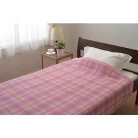京都西川 1-GT-3601 ピンク リバーシブルタオルケット シングル [タオルケット] 毛布・タオルケット