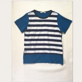 (送料無料) ボーダー×ブルー Tシャツ