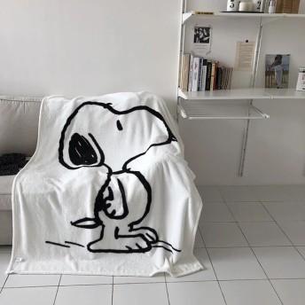 可愛い新品 毛布 スヌーピー インスタ ブランケット ふわふわ 大人気 ホワイト 大判