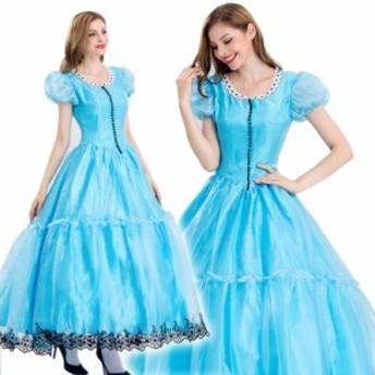 即日出荷  プリンセス ドレス コスチューム 大人用 コスプレ衣装 制服 ハロウィン 仮装 ロング丈 ワンピース  姫ドレス 2