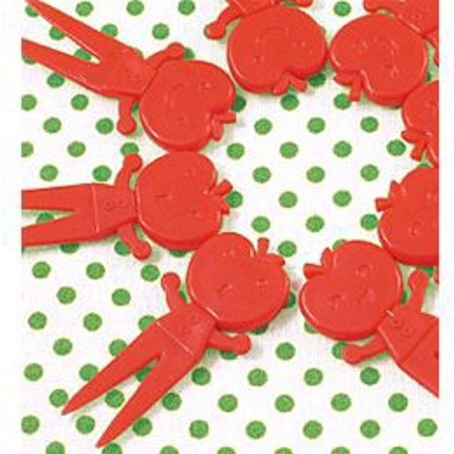 Shinzi Katoh シンジカトウ 【Ringo 仲良しピックス(8本入り)】(お弁当 ご飯 子供 キャラ弁 グッズ かわいい リンゴ キャラクター デコレ