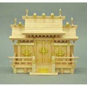 エイ・アイ・エス お神札が簡単に入る神棚国産桧 謙信特小 ナチュラル 41x18.5x35cm