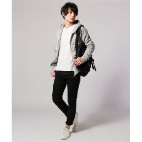 Tシャツ - SPUTNICKS メンズ カットソー メンズファッション ジャガード タック ボーダー Vネック 長袖カットソー SPU スプ