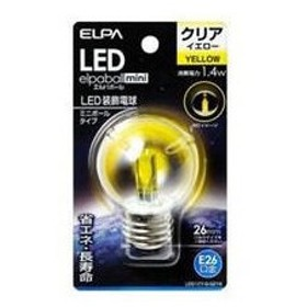 ELPA/エルパ/朝日電器  LDG1CY-G-G274 LED電球G50E26 黄色