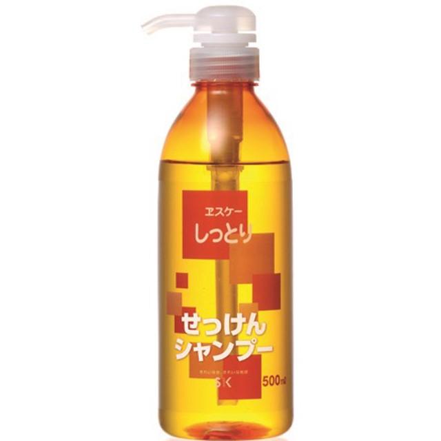 ヱスケー石鹸 しっとりせっけんシャンプー (500mL)