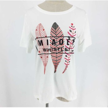 Tシャツ - Miniministore ゆったり ロゴtシャツ レディース おしゃれ 半袖tシャツ プリント カットソー 夏 人気