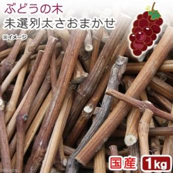 国産 ぶどうの木 未選別太さおまかせ 1kg かじり木 小動物用のおもちゃ 無添加 無着色 (ハムスター 餌)