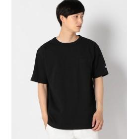 【10%OFF】 シップス Champion: MADE IN USA T1011 ポケット Tシャツ メンズ ブラック SMALL 【SHIPS】 【タイムセール開催中】