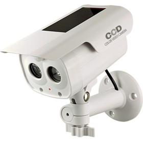 ダミーカメラ 人感検知ソーラーバッテリー付 アイボリー OS-173F (1台)