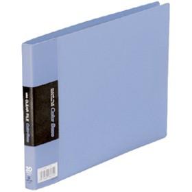 クリアーファイル カラーベース 青 115EC (1冊入)