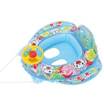 ベビーボート 浮き輪 ノンタン 足入れタイプ 子供用 70cm ( うきわ 幼児用 足穴 ベビー 脚入れ 浮輪 ひも付き ハンドル付き かわいい の