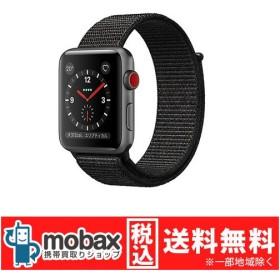 キャンペーン◆【新品未開封品(未使用)】Apple Watch Series 3 42mm GPS+cellularモデル MRQH2J/A [スペースグレイアルミニウム/ブラックスポーツループ]