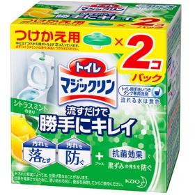 トイレマジックリン トイレ用洗剤 流すだけで勝手にキレイ シトラスミント 付け替え (80g2個入)