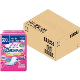ポイズ 肌ケアパッド 吸水ナプキン 超吸収ワイド 一気に出る多量モレに安心用 300cc (12枚入9コパック)