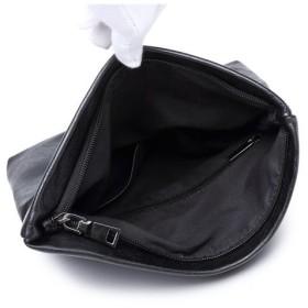 クラッチバッグ - WEB COMPLETE クラッチバッグ 二つ折り フェイクレザー セカンドバッグ 男女兼用 かばん 鞄 メンズ レディス