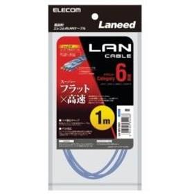 LD-GF2/BU1 LANケーブル/CAT6/フラット/1m/ブルー