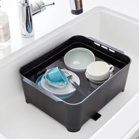 洗い桶 タワー ブラック tower 山崎実業 キッチン用品 つけ置き 桶