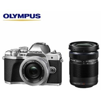 オリンパス デジタル一眼カメラ ミラーレス OM-D E-M10 Mark III EZダブルズームキット E-M10-MKIII-EZWZK-SL シルバー