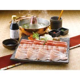 九州黒豚しゃぶしゃぶ肉と「加賀屋」いしるぽん酢セット (直送品)