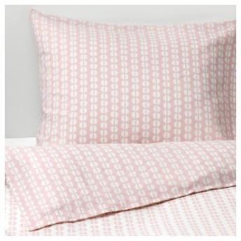 【IKEA イケア】FJALLVEDEL フィェルヴェーデル #420350276 掛け布団カバー&枕カバー ピンク