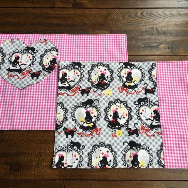 ランチョンマット2点セット☆お姫様&ギンガムピンク