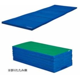 エバニュー 体操 運動マット  カラー 裏面ノンスリップ加工 軽量折りたたみワイドマットすべり止付  EVERNEW EKM080