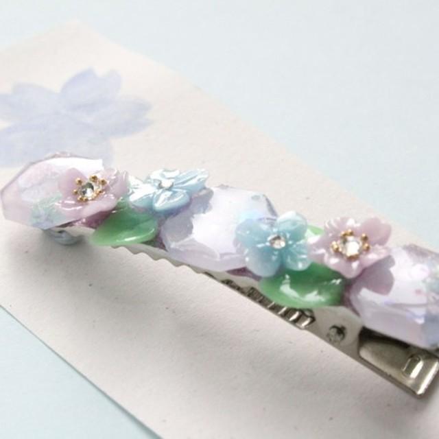 紫陽花 アジサイ ヘアクリップ (シンプル)