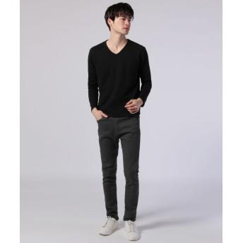 Tシャツ - SPUTNICKS メンズ カットソー メンズファッション 春 秋 冬 プレミアム ナノテック リップル ジャガード V ネック 長袖 カットソーBuyer's Select バイヤーズセレクト