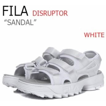フィラ ディスラプター サンダル FILA メンズ レディース DISRUPTOR SANDAL WHITE ホワイト FS1SPA2001X シューズ