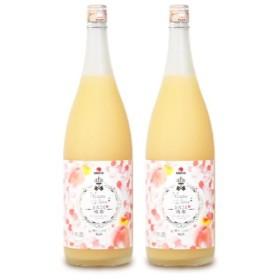 中田食品 とろこく桃姫 桃たっぷり梅酒1.8L × 2本