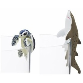 ZAK コップのフチ子 ×すみだ水族館 アオウミガメとシロワニ セット
