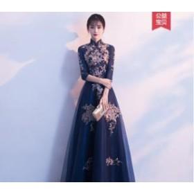 2019春夏新作!!花のデザインが美しい。中華風華憐ドレス