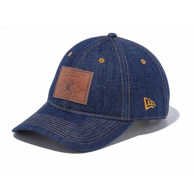 ニューエラ NEW ERA 9THIRTY クロスストラップ ポパイ レザーパッチ 930 POPEYE LEATHER キャラクター 帽子