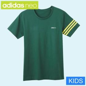 GUNZE グンゼ キッズ adidas neo(アディダスネオ) 【子供用】Tシャツ(男の子)【SALE】 ブラック 140