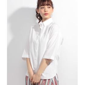 【50%OFF】 アルアバイル タイプライターシャツ レディース ホワイト 02 【allureville】 【セール開催中】