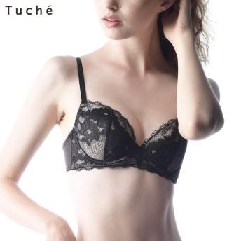 GUNZE グンゼ Tuche(トゥシェ) 3/4カップワイヤーブラジャー(レディース)【SALE】 ブラック C80