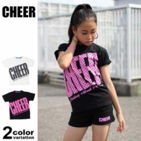 044f8e770b348 チアー CHEER Tシャツ 半袖 レディース タイトフィット ビッグロゴ CX813232 (cheer tシャツ パーカー トップス