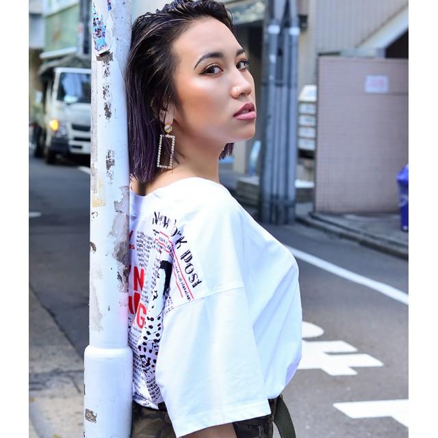Tシャツ - babyshoop YORKオーバーサイズ半袖TOPS1027