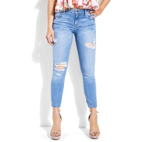 GUESS SEXY CURVE CROPPED SKINNY DENIM PANT