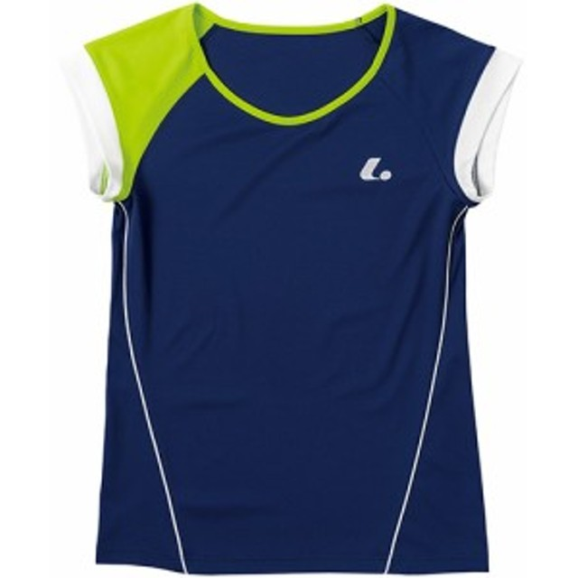 ルーセント(LUCENT) レディース テニス ゲームシャツ (襟なし) ネイビー XLH2286 NV 【テニスウェア ソフトテニスウェア トレーニン