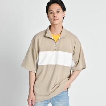 Tシャツ - WEGO【MEN】 ハーフZIPバーライン切替T(S) BR18SM06-M005