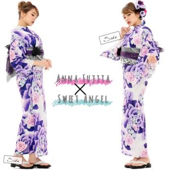 浴衣 - SWEET ANGEL 浴衣 レディース 単品 単品浴衣 大人 白 紫 ピンク モダン セクシー 派手 YS079