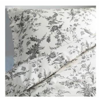 【IKEA イケア】ALVINE KVIST アルヴィーネ クヴィスト #20172825 掛け布団カバー&枕カバー ホワイト×グレー