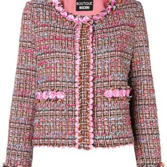 Boutique Moschino ツイードジャケット - ピンク