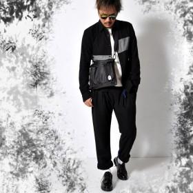 シャツ - RAiseNsE バイカラー コットン長袖シャツ 綿100% メンズ トップス シャツ 長袖 きれいめ#TS368