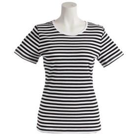 クー(Coo.) 先染めボーダーTシャツ 872Q8CD2046WHXBL (Lady's)